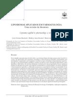 Lipossomas Aplicados Em Farmacologia