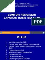 Contoh Pengisian LHBPD-2008