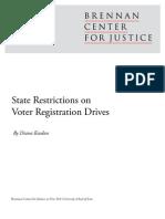 State Restrictions on Voter Registration Drives