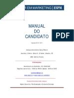 Manual Do Candidato - Master Em Mktg