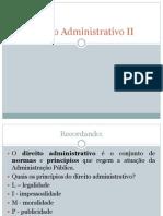 Matéria de direito administrativo II