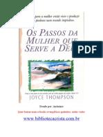 Os Passos Da Mulher Que Serve a Deus