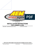 Acura RSX AEM Intake Installation 22-506