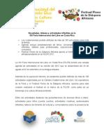 Comunicado de Prensa FILCR Actividades