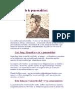 Jung, Peck, Erikson--Desarrollo de La Personalidad
