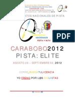 INVITACION Y PROGRAMA @Fvciclismo Campeonatos Nacionales de Pista Elite VALENCIA 2012