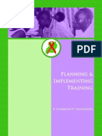 Planning and Implementing Training Community Handbook