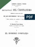 Apologia Del Cristianismo-Weiss-El Hombre Completo I