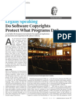 Do Software Copyrights Protect What Programs Do