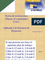 TOC - Aplicada a La Gerencia de Proyectos