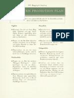 Ein-Seiten Promotion Plan