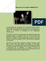 Grandes Expectativas Para El IX Congreso Mundial 2013