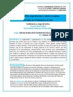 Conferencia de Teresa López Pellisa