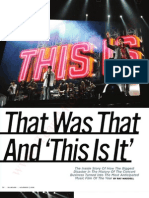 That Was That and This is It. Billboard Mag, Nov 2009