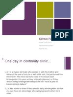 School Readiness 08.20.2012