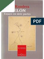 El telón - Milan Kundera
