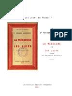Querrioux - La Medecine Et Les Juifs