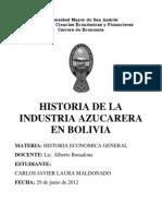 Historia Industria Azucarera Bolivia