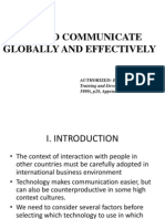 How to Communicate Globally and Effectively