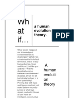 What if...a Human Evolution Theory