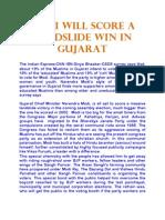 Modi Will Score a Landslide Win in Gujarat