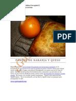 Panque de Naranja y Queso Con Naranja Completa 1