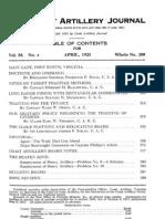 Coast Artillery Journal - Apr 1923