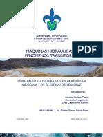 Recursos Hidráulicos en la República Mexicana y en el Estado de Veracruz