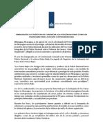 Comunicado de Prensa - Foro Con Actores Nacionales y Operadores de Justicia Con PNN - 15 de Agosto 2012