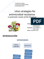 Prevention Strategies for Antimicrobial Resistance
