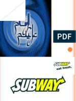 Subway Presentation by Shahzad Nazir
