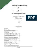 Schulz, E. Und Frercks, R. - Ein Beitrag Zur Judenfrage - Warum Arierparagraph (1934, 34 S., Text)