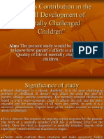 Parent's Contribution in the Overall Development of