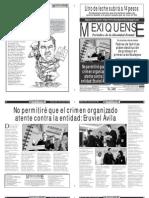 Versión impresa del periódico El mexiquense 21 agosto 2012