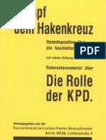 SPD - Kampf Dem Hakenkreuz (1930, 49 S., Scan, Fraktur)