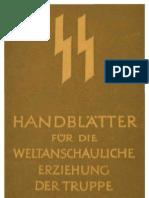 SS - Handblaetter Fuer Die Weltanschauliche Erziehung Der Truppe - Anweisung Fuer Die Benutzung Der Handblaetter (9 S., Scan)