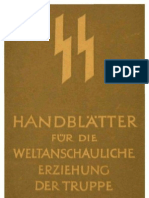 SS - Handblaetter Fuer Die Weltanschauliche Erziehung Der Truppe - Themen 16-20 (Thema 16 Unvollstaendig, 30 S., Scan)