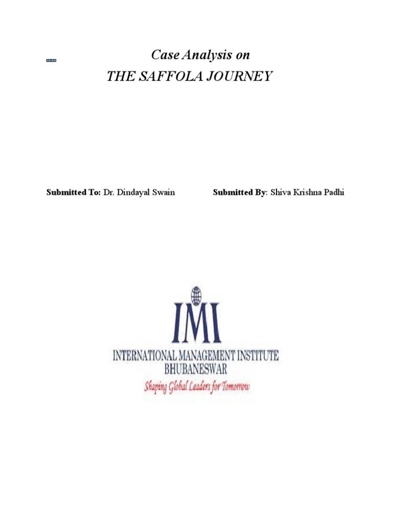 saffola case study iim bangalore