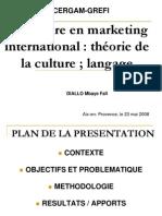 La Culture en Mkt International