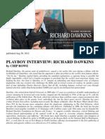 PLAYBOY Interview Richard Dawkins