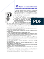 115 Ways to Cut Costs and Increase Efficiency of Electricity Water and Gas