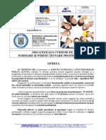 Oferta Perfectionare Si Formare - ANFP Si TRIVENTO