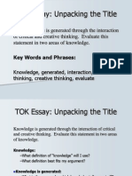 Unpacking the Essay Title