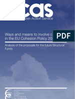 Ways and means to involve civil society in the EU Cohesion Policy 2014-2020