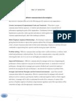 Business Communication Assignment Set