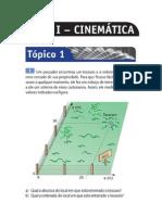 Tópico 1 – Bases da Cinemática escalar