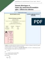 Technologie_Éléments théoriques et pratiques_Résistance des matériaux_Formulaire des poutres simples - Efforts de cohésion