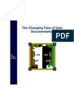 Changing Face of User Doc