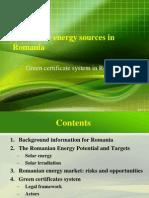 Renewable energy in Romania