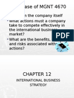 CHAPTER 12 Strategy in Intl Bus  (Fall 2007)
